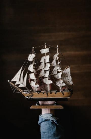 A boat model