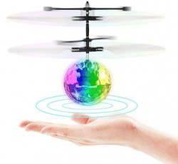 Flying Toy Ball Infrared Induction RC Flying Toy Built-in LED Light Disco Helicopter Shining Colorful Flying Drone Indoor and Outdoor Games Toys