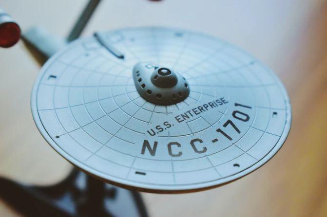USS Enterprise Star Trek model